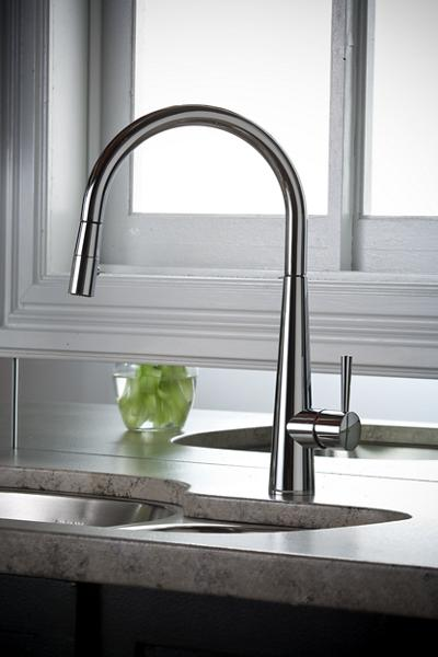 Image For Elkay Harmony Single Hole Kitchen Faucet With Pull Down Spray And  Lever Handle