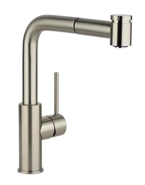 image for elkay harmony single hole kitchen faucet with pullout spray and lever handle
