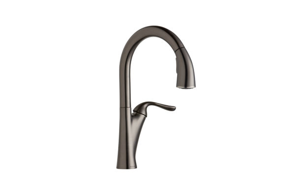 Elkay Harmony Single Hole Kitchen Faucet with Pull-down Spray and Forward Only Lever Handle
