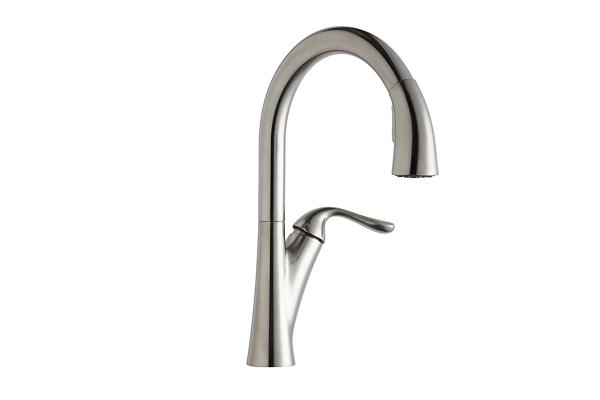 Elkay Harmony Single Hole Kitchen Faucet With Pull Down Spray And