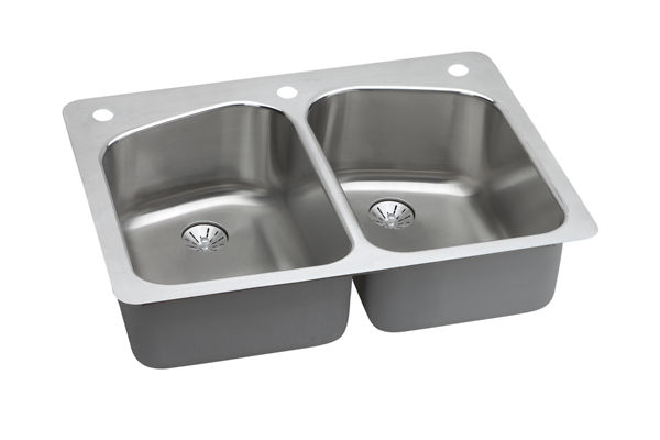 Harmony™ Stainless Steel Double Bowl Dual / Universal Mount Sink Kit