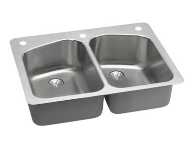 Image for Harmony Stainless Steel Double Bowl Dual / Universal Mount Sink Kit from elkay-consumer