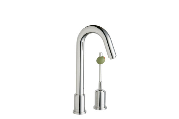 Elkay Ella Bar Faucet with Martini Olive Handle, Polished Stainless Steel