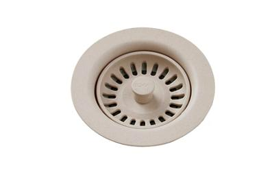 Image for Elkay Polymer Drain Fitting with Removable Basket Strainer and Rubber Stopper Putty from ELKAY