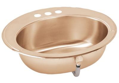 "Image for Elkay CuVerro Antimicrobial Copper 19-5/8"" x 16-11/16"" x 6"", Single Bowl Top Mount Bathroom Sink from ELKAY"