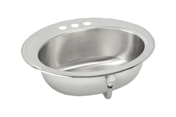 Asana® (Lustertone®) Stainless Steel Single Bowl Top Mount Sink