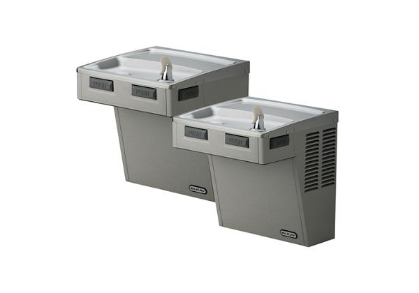 Image for Elkay Wall Mount Bi-Level ADA Cooler, Filtered 8 GPH Light Gray Granite from Elkay Latin America