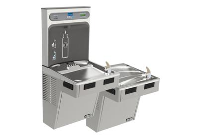 Image for Elkay EZH2O Bottle Filling Station with Bi-Level ADA Cooler, Filtered Non-Refrigerated Light Gray from ELKAY