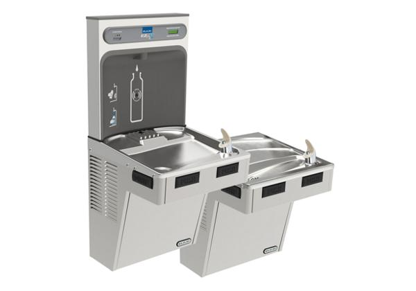 Image for Elkay EZH2O Bottle Filling Station with Bi-Level ADA Cooler, Filtered Non-Refrigerated Stainless from Elkay Latin America