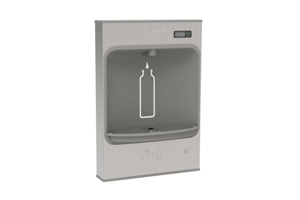 Elkay EZH2O Mechanical Bottle Filling Station Surface Mount, Battery Powered Filtered Non-Refrigerated Stainless