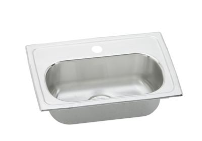 "Image for Elkay Gourmet Stainless Steel 19-1/2"" x 13"" x 6-1/8"", Single Bowl Top Mount Bar Sink from ELKAY"