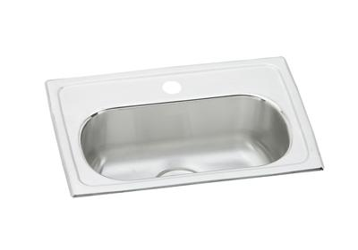 "Image for Elkay Lustertone Stainless Steel 19-1/2"" x 13"" x 6-1/8"", Single Bowl Top Mount Bar Sink from ELKAY"