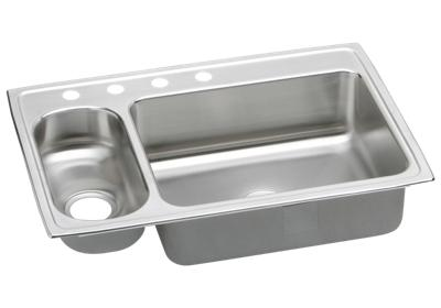 "Image for Elkay Lustertone Stainless Steel 33"" x 22"" x 7-7/8"", 30/70 Double Bowl Top Mount Sink from ELKAY"