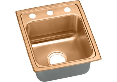 "Image for Elkay CuVerro Antimicrobial Copper 13"" x 16"" x 7-5/8"", Single Bowl Top Mount Sink from ELKAY"