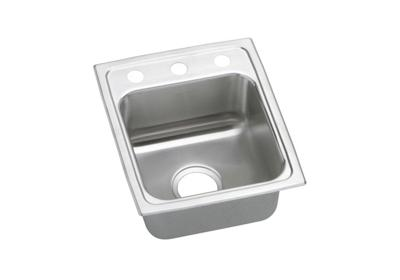 "Image for Elkay Gourmet Stainless Steel 15"" x 17-1/2"" x 7-5/8"", Single Bowl Top Mount Sink from ELKAY"
