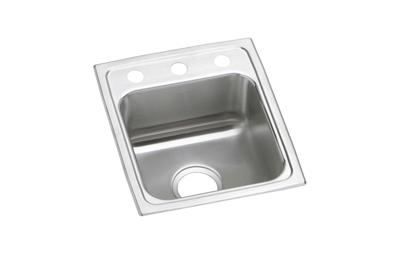 "Image for Elkay Lustertone Stainless Steel 15"" x 17-1/2"" x 7-5/8"", Single Bowl Top Mount Bar Sink from ELKAY"