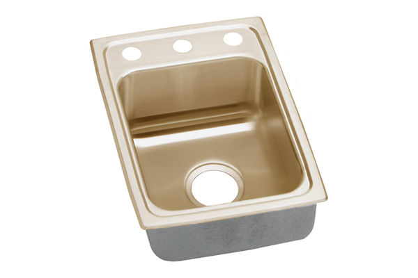 "Elkay CuVerro Antimicrobial Copper 15"" x 22"" x 6-1/2"" Single Bowl Top Mount Sink"