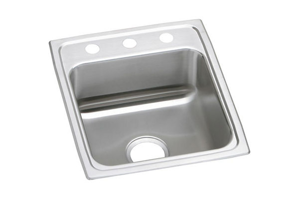 "Elkay Lustertone Stainless Steel 15"" x 22"" x 7-5/8"", Single Bowl Top Mount Sink"