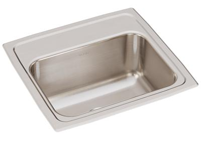 "Image for Elkay Lustertone Classic Stainless Steel 17"" x 16"" x 7-5/8"", Single Bowl Drop-in Sink from ELKAY"