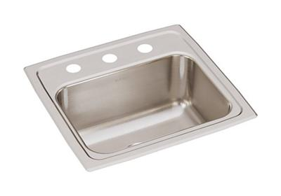 "Image for Elkay Gourmet Stainless Steel 17"" x 16"" x 7-5/8"", Single Bowl Top Mount Sink from ELKAY"