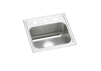 "Image for Elkay Lustertone Stainless Steel 17"" x 16"" x 7-5/8"", Single Bowl Top Mount Sink from ELKAY"