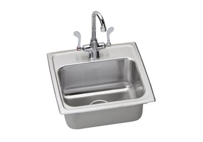 "Image for Elkay Lustertone Stainless Steel 17"" x 16"" x 6"", Single Bowl Top Mount Sink + Faucet Kit from ELKAY"