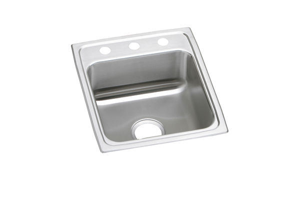 "Elkay Lustertone Classic Stainless Steel 17"" x 20"" x 7-5/8"", Single Bowl Top Mount Sink"