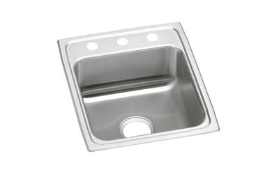 "Image for Elkay Lustertone Classic Stainless Steel 17"" x 20"" x 7-5/8"", Single Bowl Top Mount Sink from ELKAY"