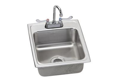 "Image for Elkay Lustertone Stainless Steel 17"" x 20"" x 6"", Single Bowl Top Mount Sink + Faucet Kit from ELKAY"