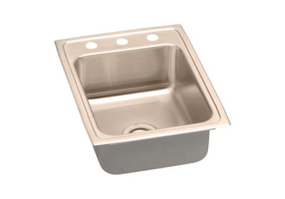 "Image for Elkay CuVerro Antimicrobial Copper 17"" x 22"" x 7-5/8"", Single Bowl Top Mount Sink from ELKAY"