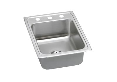 "Image for Elkay Lustertone Stainless Steel 17"" x 22"" x 7-5/8"", Single Bowl Top Mount Sink with Perfect Drain from ELKAY"