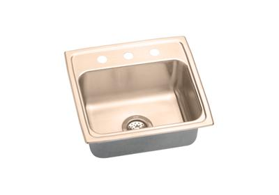 "Image for Elkay CuVerro Antimicrobial Copper 19"" x 18"" x 7-5/8"", Single Bowl Top Mount Sink from ELKAY"