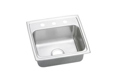 "Image for Elkay Gourmet Stainless Steel 19"" x 18"" x 7-5/8"", Single Bowl Top Mount Sink from ELKAY"