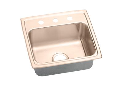 "Image for Elkay CuVerro Antimicrobial Copper 19-1/2"" x 19"" x 7-1/2"", Single Bowl Top Mount Sink from ELKAY"