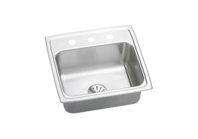 "Image for Elkay Gourmet Stainless Steel 19-1/2"" x 19"" x 7-1/2"", Single Bowl Top Mount Sink with Perfect Drain from ELKAY"