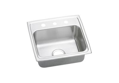 "Image for Elkay Lustertone Stainless Steel 19-1/2"" x 19"" x 7-1/2"", Single Bowl Top Mount Sink from ELKAY"