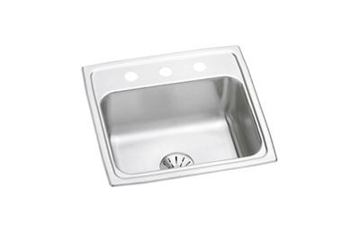 "Image for Elkay Lustertone Stainless Steel 19-1/2"" x 19"" x 7-1/2"", Single Bowl Top Mount Sink with Perfect Drain from ELKAY"