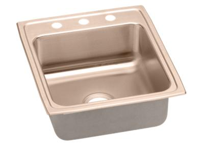 "Image for Elkay CuVerro Antimicrobial Copper 19-1/2"" x 22"" x 10-1/8"", Single Bowl Top Mount Sink from ELKAY"
