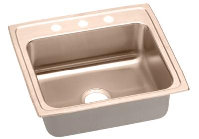 "Image for Elkay CuVerro Antimicrobial Copper 22"" x 19-1/2"" x 7-5/8"", Single Bowl Top Mount Sink from ELKAY"