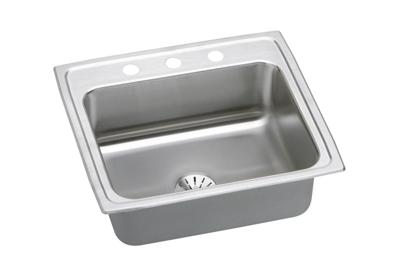 "Image for Elkay Lustertone Stainless Steel 22"" x 19-1/2"" x 7-5/8"", Single Bowl Top Mount Sink with Perfect Drain from ELKAY"
