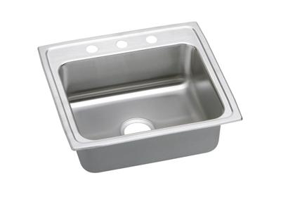 "Image for Elkay Lustertone Stainless Steel 22"" x 19-1/2"" x 7-5/8"", Single Bowl Top Mount Sink from ELKAY"