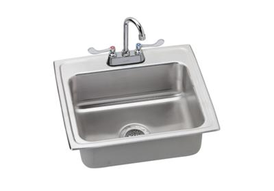 "Image for Elkay Lustertone Stainless Steel 22"" x 19-1/2"" x 6"", Single Bowl Top Mount Sink + Faucet Kit from ELKAY"