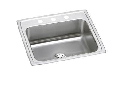 "Image for Elkay Lustertone Classic Stainless Steel 22"" x 19-1/2"" x 7-5/8"", Single Bowl Top Mount Sink with Perfect Drain from ELKAY"