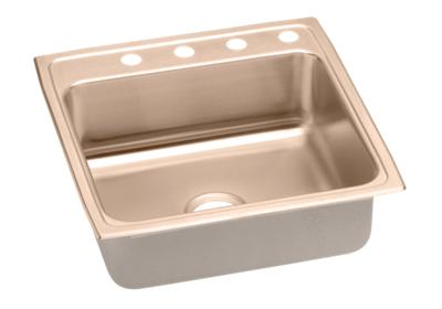 "Image for Elkay CuVerro Antimicrobial Copper 22"" x 22"" x 7-5/8"", Single Bowl Top Mount Sink from ELKAY"
