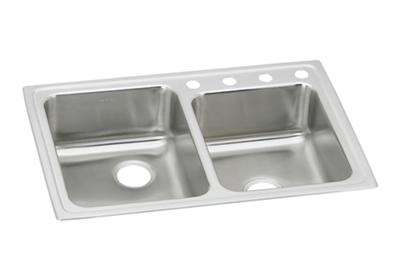 "Image for Elkay Lustertone Classic Stainless Steel 33"" x 22"" x 7-7/8"", Offset Double Bowl Top Mount Sink from ELKAY"