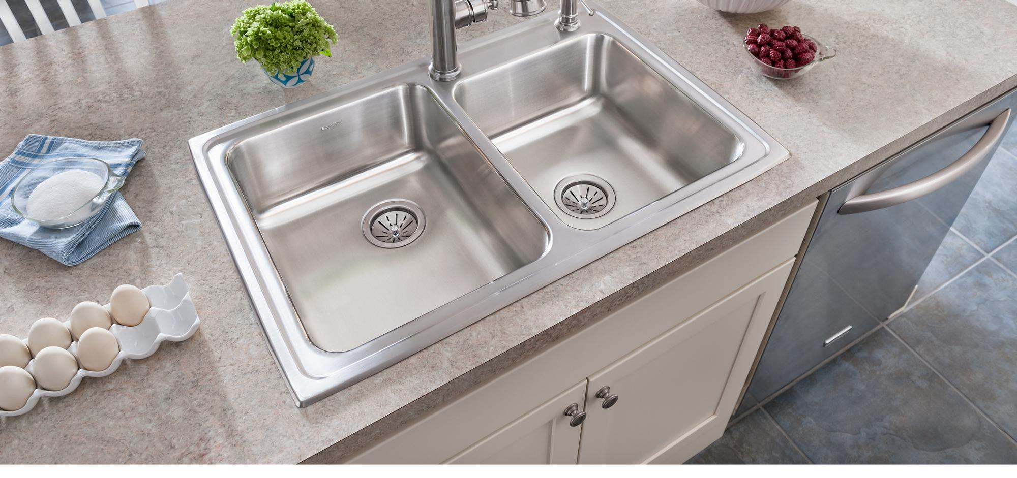 Top Mount Lustertone Sink