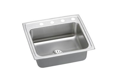 "Image for Elkay Gourmet Stainless Steel 25"" x 21-1/4"" x 7-7/8"", Single Bowl Top Mount Sink with Perfect Drain from ELKAY"