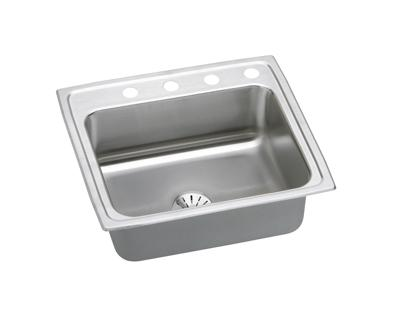 Image for Gourmet (Lustertone) Stainless Steel Single Bowl Top Mount Sink Kit from elkay-consumer