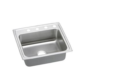"Image for Elkay Gourmet Stainless Steel 25"" x 21-1/4"" x 7-7/8"", Single Bowl Top Mount Sink from ELKAY"