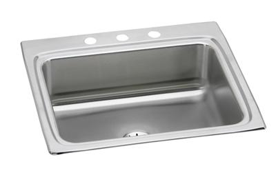 "Image for Elkay Lustertone Stainless Steel 25"" x 22"" x 8-1/8"", Single Bowl Top Mount Sink with Perfect Drain from ELKAY"